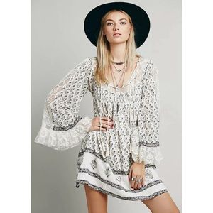 Free People | Nomad Child Lace Floral Boho Dress